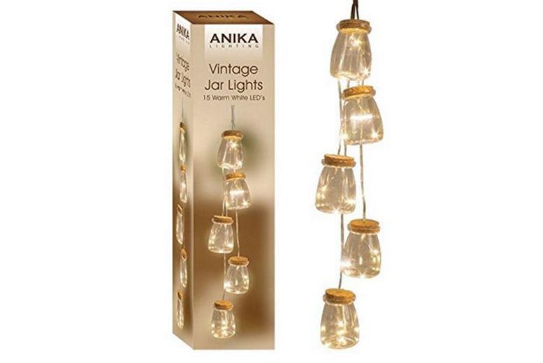 £8.99 instead of £18.99 for five vintage jar LED lights from Ckent Ltd - save 53%
