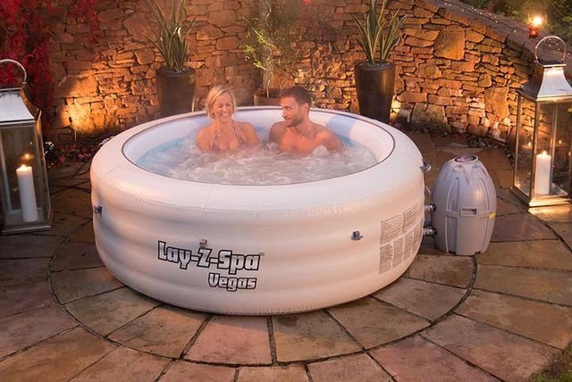 lay z spa vegas inflatable hot tub shop wowcher. Black Bedroom Furniture Sets. Home Design Ideas