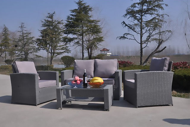 4 Seater Rattan Garden Furniture Set