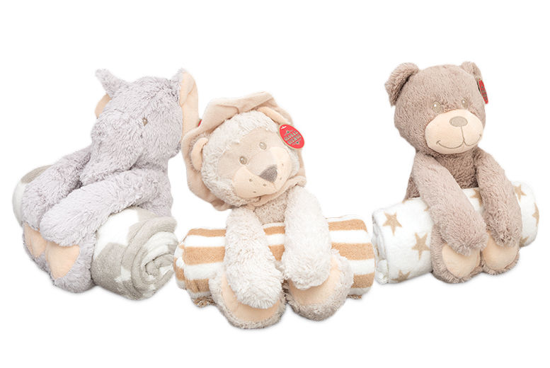 The Best Deal Guide - Soft Toy & Blanket - 3 Animals!
