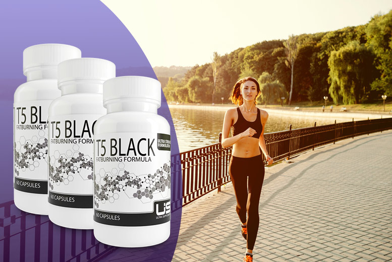 £17 instead of £105 for a three-month* supply of black T5 super strength 'fat burner' - save 84% + DELIVERY INCLUDED!