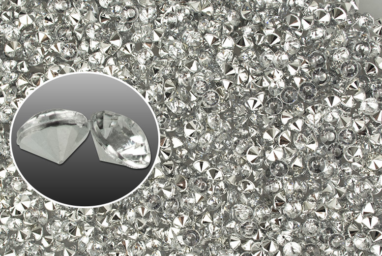 £2 instead of £14.99 (from Marcus Emporium) for a pack of 500 acrylic crystals, or £4 for two packs - decorate tables at weddings and parties and save up to 87%