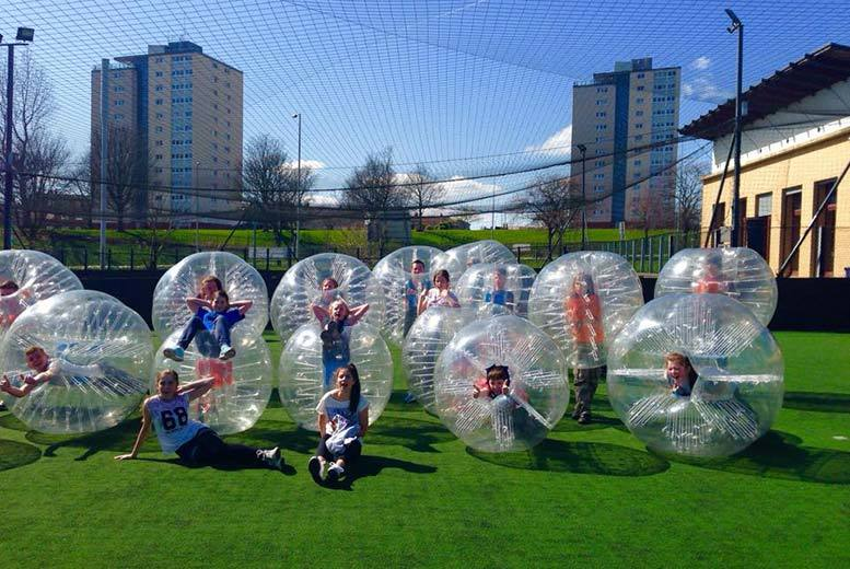 £119 for a 1-hour bubble football experience & 1-hour pitch rental for up to 12, £149 to include food afterwards at Elite Bubble Football, Glasgow - save up to 50%
