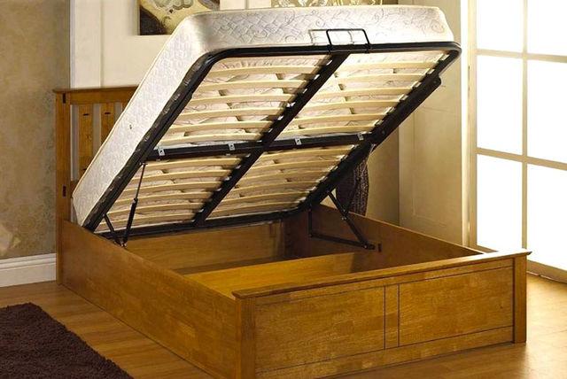 FTA-furnishing---Veronica-Gas-Lift-Wooden-Ottoman- ... - Oak Gas-Lift Ottoman Storage Bed With Mattress Option