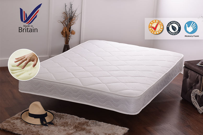 Luxury Soft-Touch Cooling Memory Foam Sprung Mattress from £39