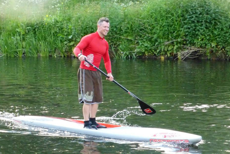 £10 for a one-hour paddleboarding class, £18 for two hours at Central SUP, Tamworth
