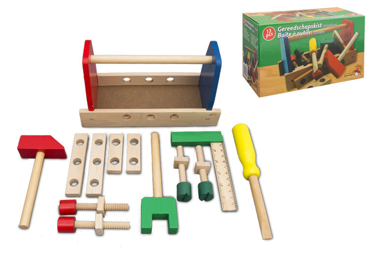 £6.99 instead of £17.99 for a wooden tool box toy from Ckent Ltd  save 61
