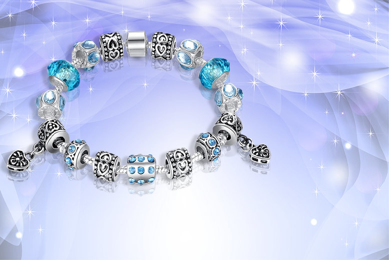 £9 instead of £49.99 (from Eagle Accessories) for a Murano glass and crystal charm bracelet in a choice - choose from four colours and save 82%