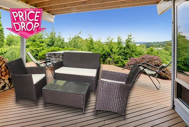 £129 instead of £674.01 for a four-piece garden furniture set - save 81%