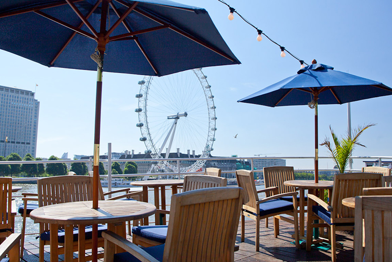 £39 for a two-course meal for two people aboard the RS Hispaniola including a glass of Prosecco each and a sightseeing cruise ticket - save up to 58%