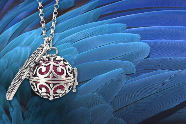 £9 instead of £69.99 (from Marcus Emporium) for a guardian angel soundball necklace - choose from four colours and save 87%