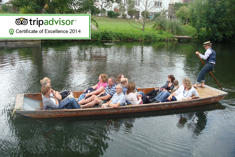 £19 for a chauffeured punting tour for two people, £38 for four at Let's Go Punting, Cambridge