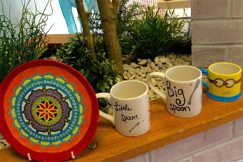 £9.99 instead of £20 for a two-hour craft pottery painting session for two at The Craft Pottery, Glasgow, £14.99 for three people or £19.99 for four - save up to 50%