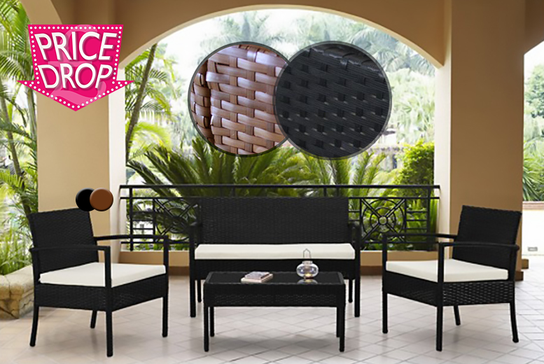 Wowcher deal 119 instead of for a four piece for Garden furniture set deals