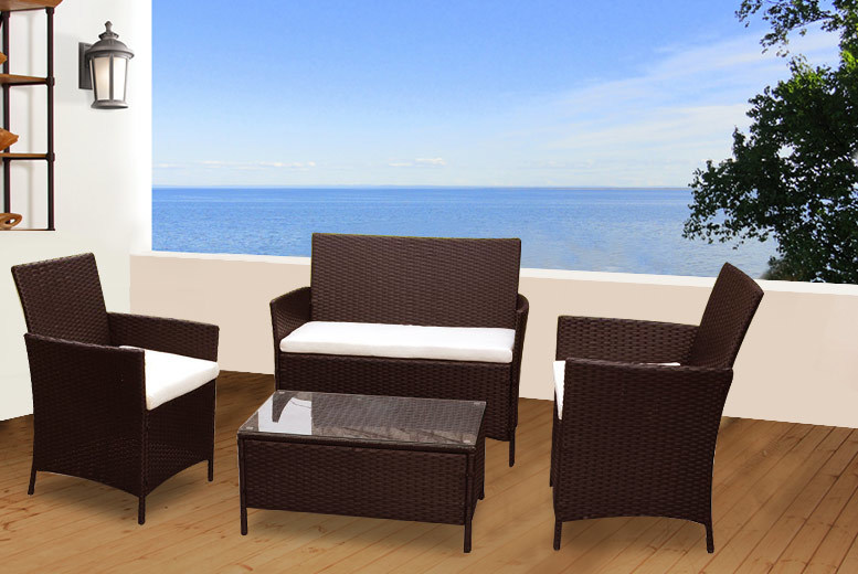 Wowcher deal 139 instead of for a four piece for Garden furniture deals