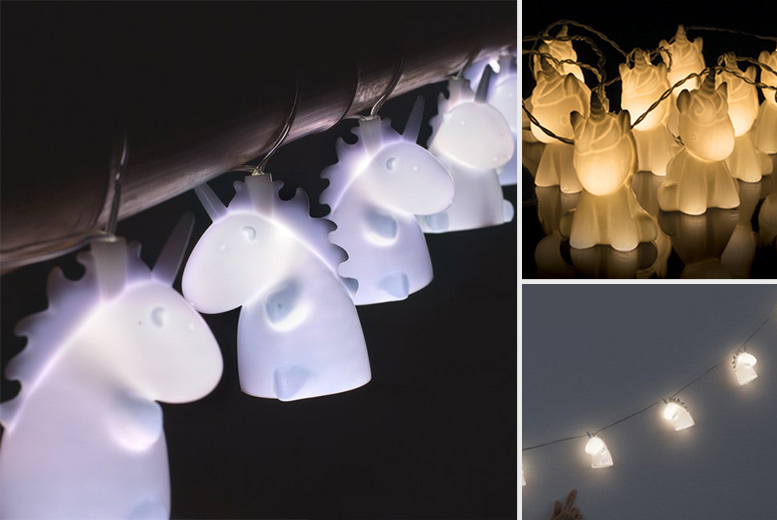 £9.99 instead of 24.99 (from Handtec) for a set of 'Uni the Unicorn' string lights - save 60%