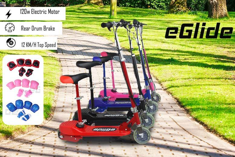 The Best Deal Guide - E-Slide Electronic Scooter with Matching Safety Pads!