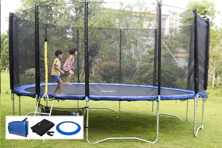 From £89 for a trampoline set with safety net enclosure ladder carry bag and rain cover from FDS CORPORATION  save up to 61