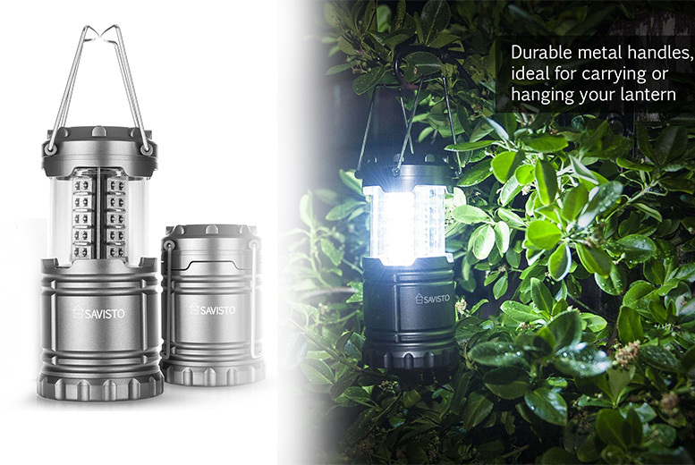 £6 instead of £16 (from Savisto) for a collapsible LED lantern, or £10 for two lanterns - save up to 62%