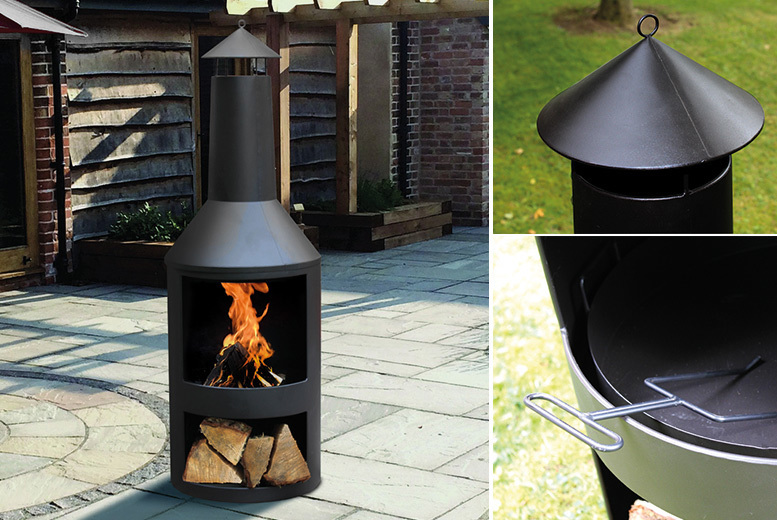 £79 instead of £199.99 (from Groundlevel) for an outdoor steel log burner with log store  save 60