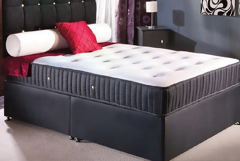 Wowcher deal limitless base 199 from limitless base for King size divan bed memory foam