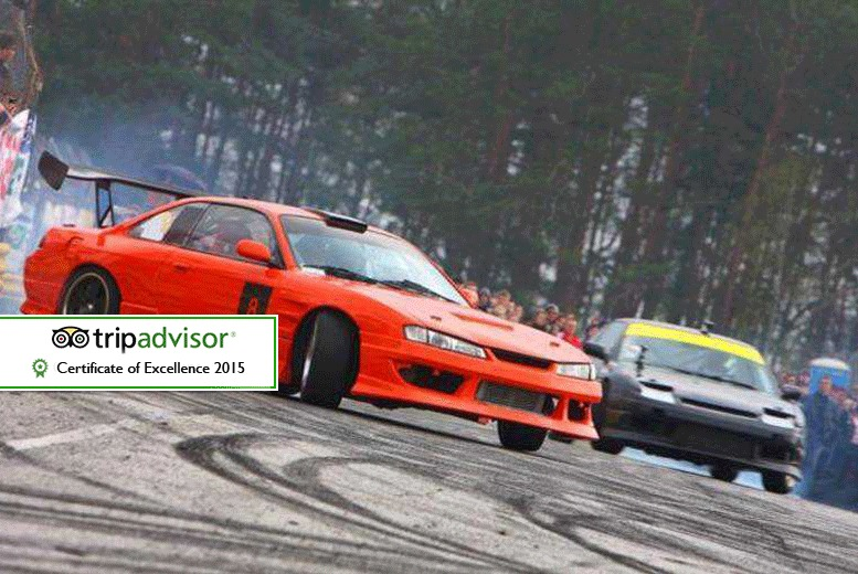 £69 instead of up to £199 for a drifting experience for one person, £135 for two, £259 for four or £385 for six at Flatout Factory - save up to 65%
