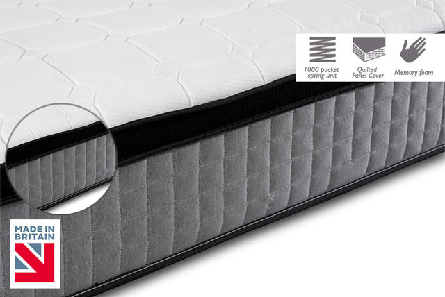 Deep-Quilted Pocket Memory Pillowtop Mattress