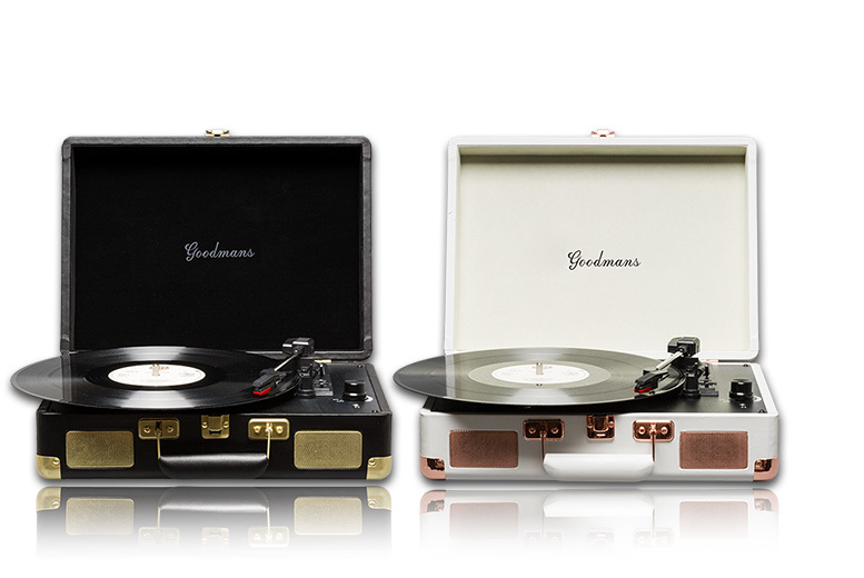 £44 (from Camtronics) for a Goodmans Ealing Suitcase Turntable  choose either black or cream!