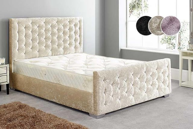 Diamante Crushed Velvet Bed Frame