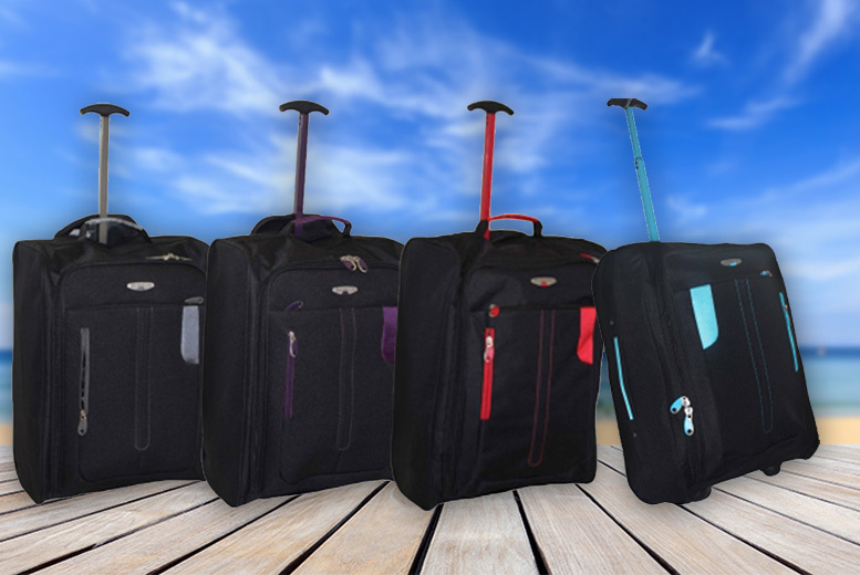 £10 instead of £53.99 (from Trendy Look) for cabinapproved wheelie hand luggage  choose from four colours and save 81