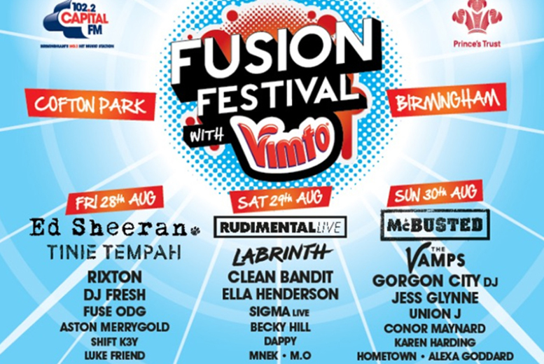 £32 instead of up to £54 for a day ticket to Fusion Festival at Cofton Park, Birmingham on the 28th, 29th or 30th August 2015 - save up to 41%