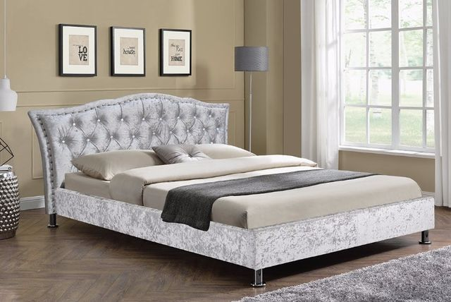 double georgio designer faux leather bed