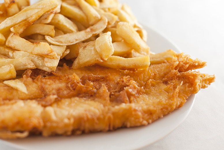 £2.50 instead of £5 for a traditional fish and chips takeaway from Crown Fisheries in Leeds, or £4.90 for two people - save up to 50%