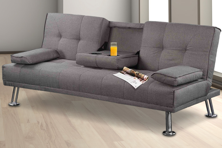 Grey fabric sofa bed uk leather sofa beds buy best for Sofa new york