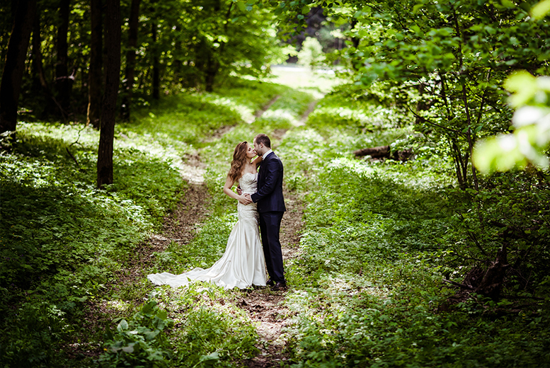£2499 for a woodland wedding package at The Wroxeter Hotel, Shrewsbury including a rustic woodland ceremony and fairytale tipi reception - save up to 52%