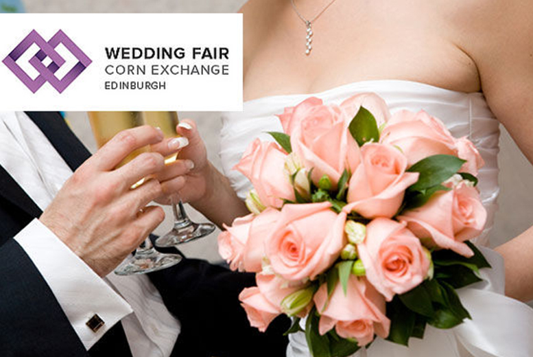 £5 instead of up to £10 for two tickets to the Edinburgh Wedding Fair at Edinburgh Corn Exchange on 7th or 8th March 2015 - save up to 50%