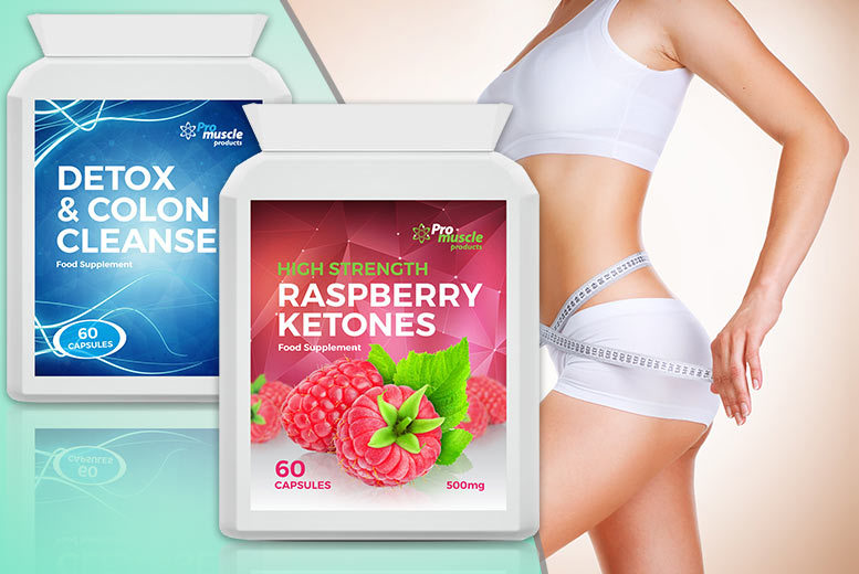 £7.99 instead of £52.98 (from ProMuscle) for a one-month* supply of raspberry ketone and 'colon cleanse' capsules - save 85%