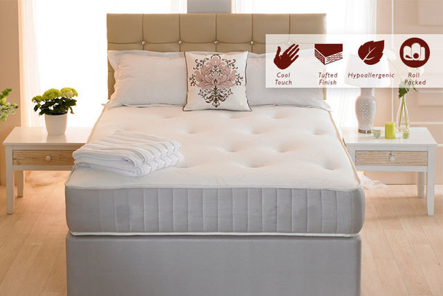 Orthopaedic Tufted Memory Foam Sprung Mattress
