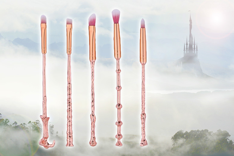 £5.99 instead of £39.99 (from Tom Shop) for a set of five Harry Potterinspired rose gold makeup brushes  save 85