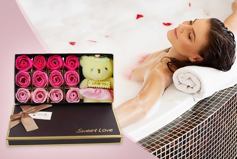 The Best Deal Guide - Luxury 12 PC Bath Soap Set with 'I Love You' Teddy Bear