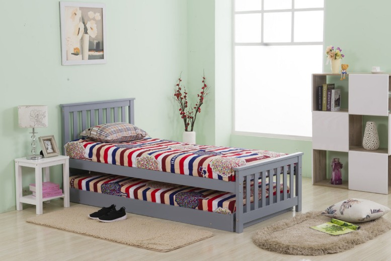 £129.99 instead of £390 for a 3ft 2in1 pinewood single bed frame & trundle from Dreams Living Ltd  save 67