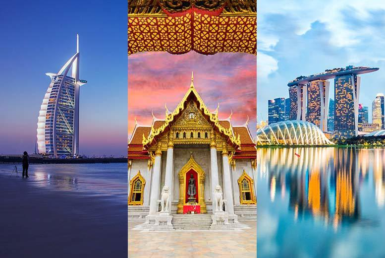 From £749pp (from Crystal Travel) for a 9night Dubai Bangkok and Singapore break with flights from £849pp for 12 nights or pay a £499pp deposit today  save up to 27