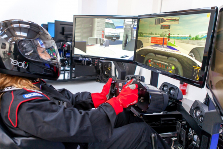 £22 instead of £57.50 for a one-hour racing simulation with Ultimate Race Car Experience, Salisbury - save 62%