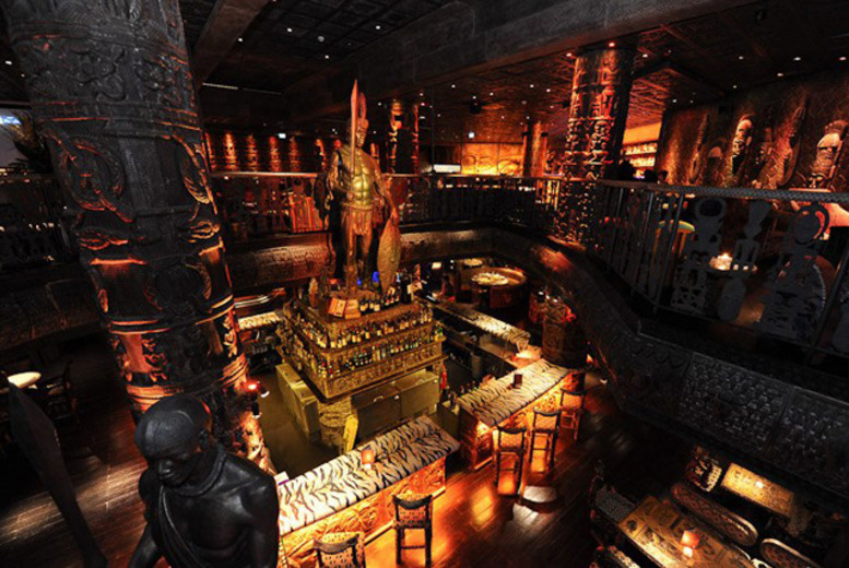 £49 (from Buyagift) instead of up to £107 for a three-course meal and Champagne cocktails for two at celebrity hangout Shaka Zulu, Camden Town - save up to 50%