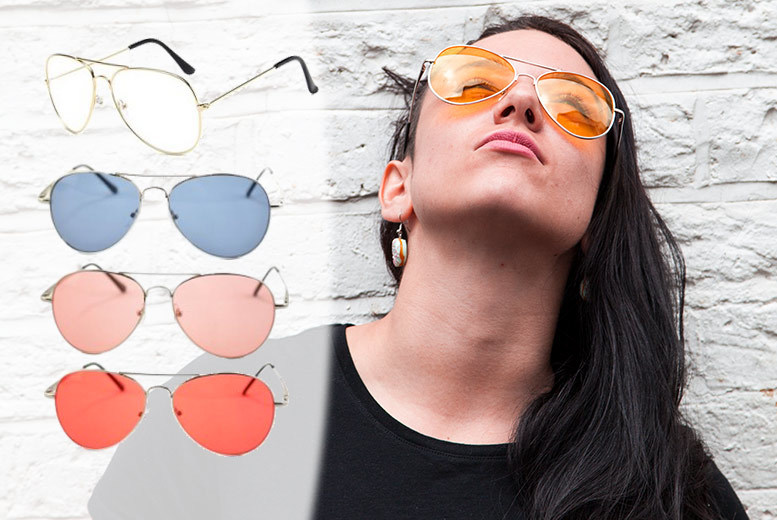 £6 instead of £23 (from Fakurma) for a pair of aviator sunglasses or two pairs for £10  choose from five colours and save up to 74
