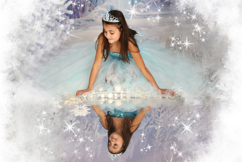"£9 instead of £45 for a Frozen, fairy or princess-themed children's photoshoot including two 7"" x 5"" prints from Picture Perfect by Mario, Kent - save 95%"