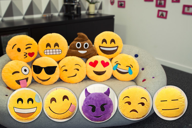 £6.99 instead of £14.99 (from London Exchainstore) for a yellow emoji cushion, or £7.99 for a brown or purple emoji cushion - save up to 53%