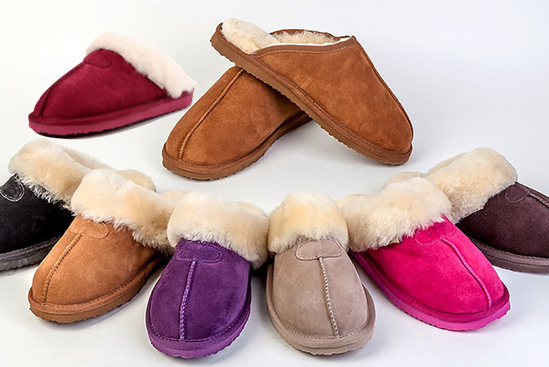 £24 instead of £90 for a pair of sheepskin slippers - choose from up to nine designs for men and women and save 73%