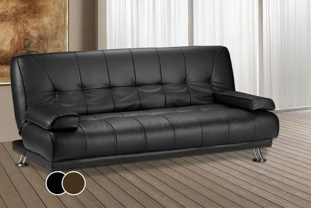 Faux Leather Sofa Bed   2 Colours!