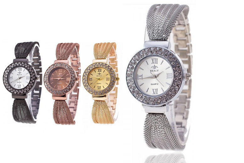 Mesh Bracelet Watch - 4 Colours!